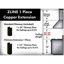 ZLINE 5 ft. Chimney Extension for Ceilings up to 12.5 ft., 8667B-E