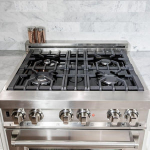 "ZLINE 30"" Stainless Steel 4.0 cu.ft. 4 Gas Burner/Electric Oven Range, RA30 test"