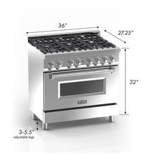 "ZLINE 36"" Professional Gas Burner/Electric Oven in DuraSnow® Stainless with White Matte Door, RAS-WM-36"