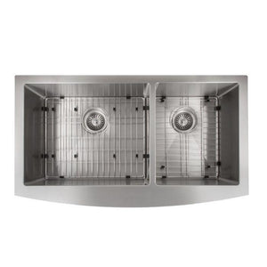 ZLINE Farmhouse Series 36 Inch Undermount Double Bowl Apron Sink in Stainless Steel, SA60D-36-3 test