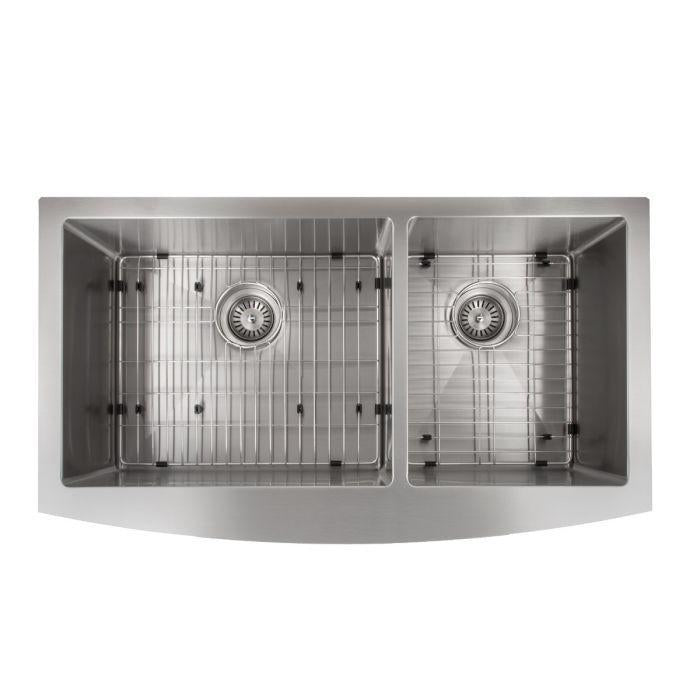 ZLINE Farmhouse Series 36 Inch Undermount Double Bowl Apron Sink in Stainless Steel, SA60D-36-3