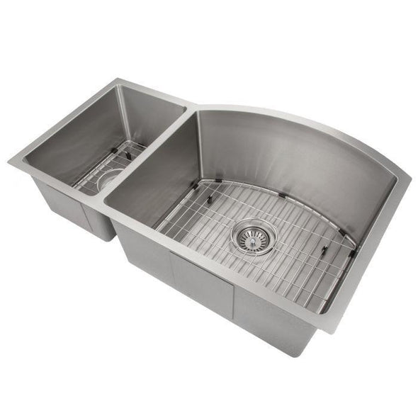 ZLINE Gateway Series 33 Inch Undermount Double Bowl Sink in Stainless Steel SC30D-33