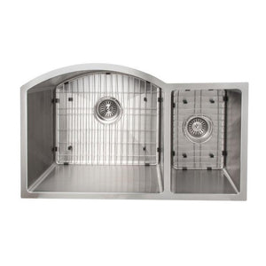 ZLINE Gateway Series 33 Inch Undermount Double Bowl Sink in Stainless Steel SC70D-33-2 test