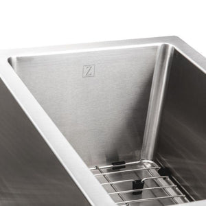 ZLINE Gateway Series 33 Inch Undermount Double Bowl Sink in Stainless Steel SC70D-33-3 test