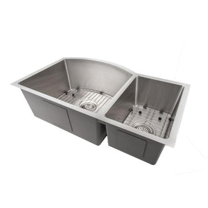 ZLINE Gateway Series 33 Inch Undermount Double Bowl Sink in Stainless Steel SC70D-33-4