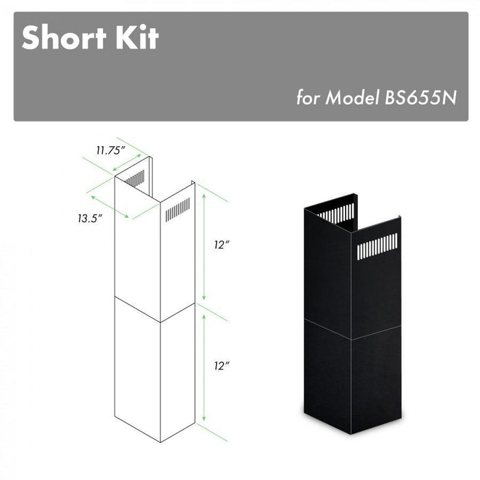 ZLINE 2-12 in. Short Chimney Pieces for 7 ft. to 8 ft. Ceilings (SK-BS655N)