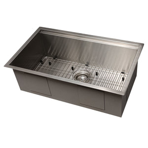 ZLINE Garmisch 30 Inch Undermount Single Bowl Sink in Stainless Steel with Accessories, SLS-30 test