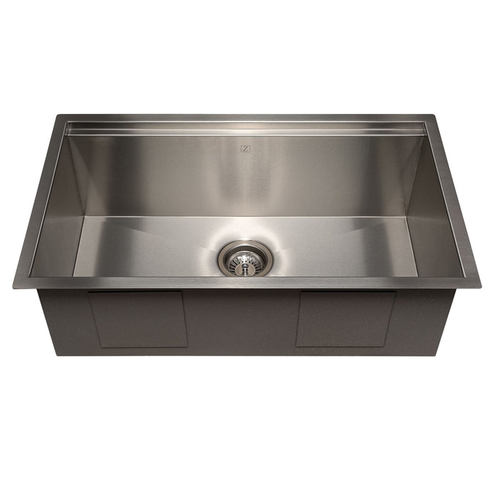 ZLINE Garmisch 30 Inch Undermount Single Bowl Sink in Stainless Steel with Accessories, SLS-30