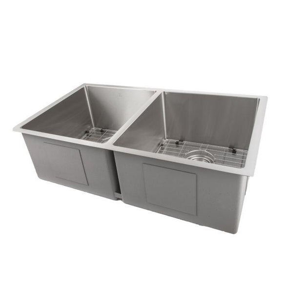 ZLINE Executive Series 33 Inch Undermount Double Bowl Sink in Stainless Steel SR50D-33