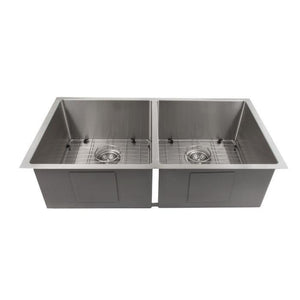 ZLINE Executive Series 36 Inch Undermount Double Bowl Sink in Stainless Steel SR50D-36-1 test