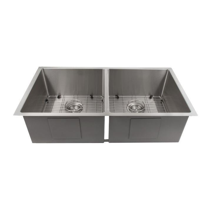 ZLINE Executive Series 36 Inch Undermount Double Bowl Sink in Stainless Steel SR50D-36-1