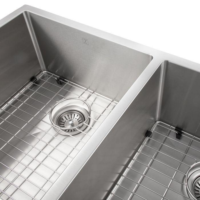 ZLINE Executive Series 36 Inch Undermount Double Bowl Sink in Stainless Steel SR50D-36-2