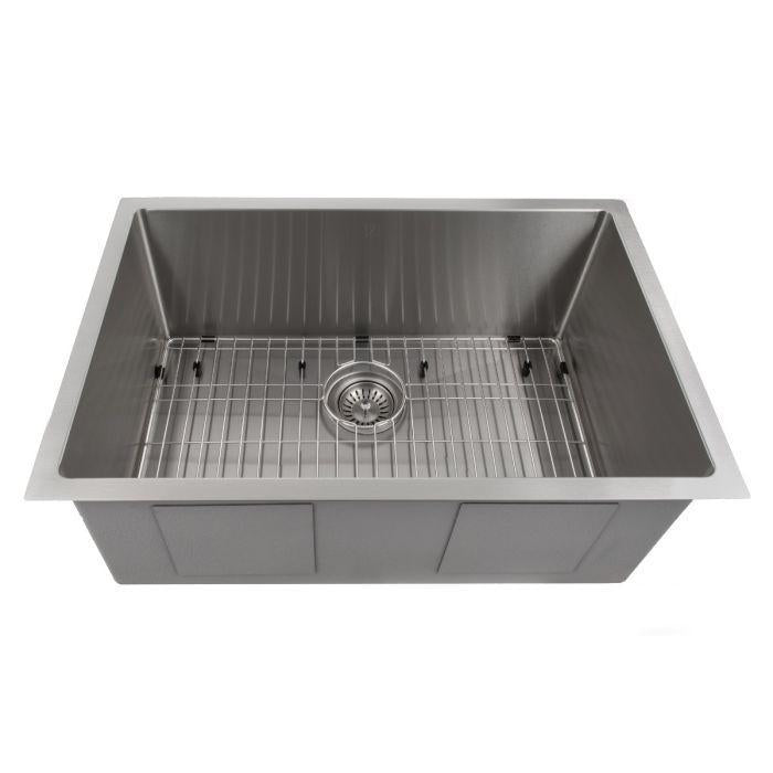 ZLINE Classic Series 27 Inch Undermount Single Bowl Sink in Stainless Steel SRS-27-1