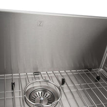 ZLINE Classic Series 27 Inch Undermount Single Bowl Sink in Stainless Steel SRS-27-2