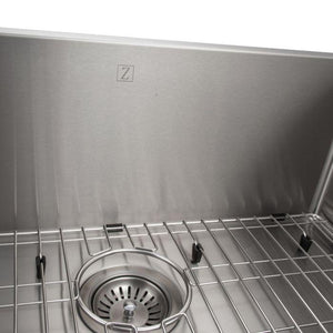 ZLINE Classic Series 27 Inch Undermount Single Bowl Sink in Stainless Steel SRS-27-2 test