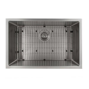 ZLINE Classic Series 27 Inch Undermount Single Bowl Sink in Stainless Steel SRS-27-3 test