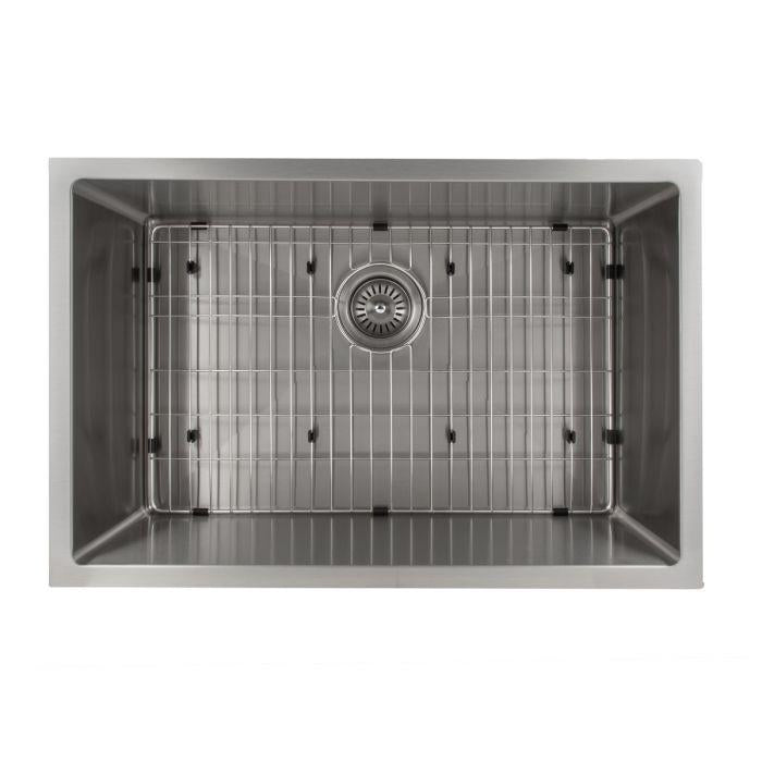 ZLINE Classic Series 27 Inch Undermount Single Bowl Sink in Stainless Steel SRS-27-3