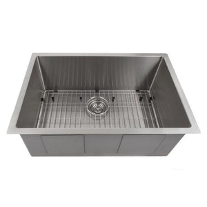 ZLINE Classic Series 30 Inch Undermount Single Bowl Sink in Stainless Steel SRS-30-1 test