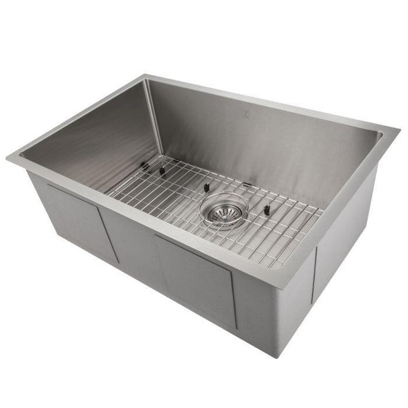 ZLINE Classic Series 30 Inch Undermount Single Bowl Sink in Stainless Steel SRS-30