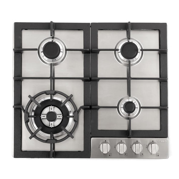 Cosmo 24 in. Gas Cooktop in Stainless Steel with 4 Sealed Burners, 640STX-E