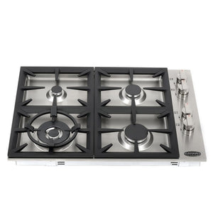Cosmo 30 in. Gas Cooktop in Stainless Steel with 4 Italian Made Burners, COS-DIC304