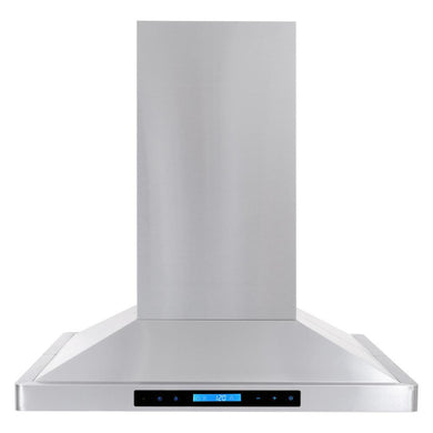 Cosmo 30 in. 760 CFM Ducted Island Range Hood with LED Lighting in Stainless Steel, COS-63ISS75