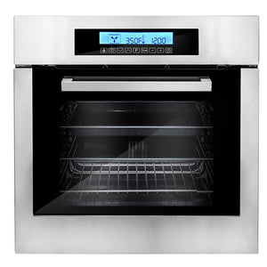 Cosmo 24 in. 2 cu. ft. Single Electric Wall Oven with Self Cleaning in Stainless Steel, C106SIX-PT