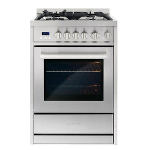 Cosmo 24 in. 2.73 cu. ft. Single Oven Gas Range with 4 Burner Cooktop, COS-244AGC