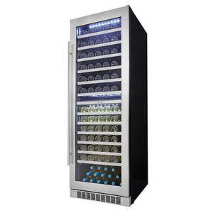 "Danby Silhouette 24"" 129 Bottle Capacity Dual Zone Wine Cooler, DWC140D1BSSPR"