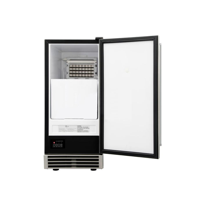 Thor Kitchen Built-in 50 lbs. Ice Maker in Stainless Steel, HIM1555BLK