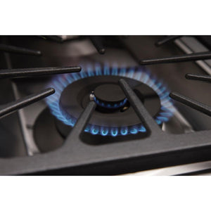 "Kucht Professional Series 36"" Natural Gas Burner Rangetop with Tuxedo Black Knobs, KRT361GU-K test"