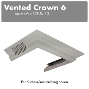 ZLINE Vented Crown Molding for Wall Mount Range Hood, CM6V-300U test