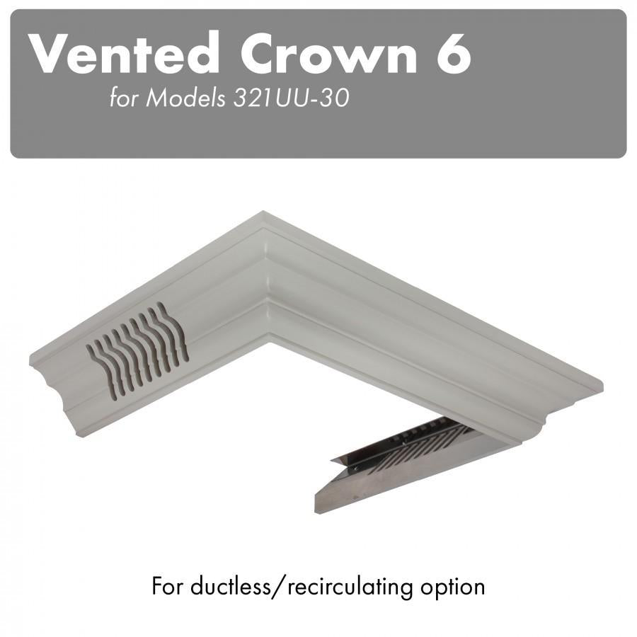 ZLINE Vented Crown Molding for Wall Mount Range Hood, CM6V-300U