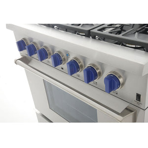 "Kucht Professional 36"" 5.2 cu ft. Natural Gas Range with Silver Knobs, KRG3618U-S test"
