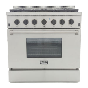 "Kucht Professional 36"" 5.2 cu ft. Propane Gas Range with Tuxedo Black Knobs, KRG3618U/LP-K"