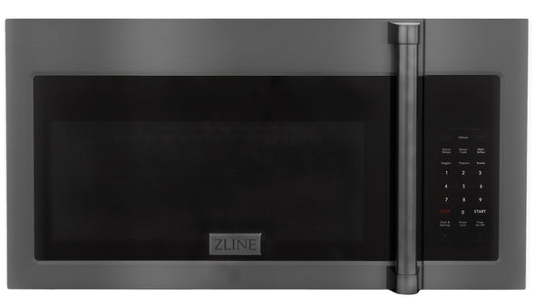 ZLINE Over the Range Microwave Oven in Black Stainless Steel with Modern Handle, MWO-OTR-H-30-BS