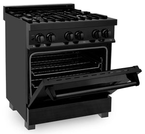 "ZLINE 30"" Professional Gas Burner/Electric Oven in Black Stainless Steel, RAB-30 test"