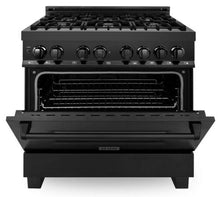 "ZLINE 36"" Professional Gas Burner/Electric Oven in Black Stainless Steel, RAB-36"