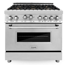 "ZLINE 36"" Professional Gas Burner/Gas Oven Gas in Stainless Steel with Brass Burners, RG-BR-36"