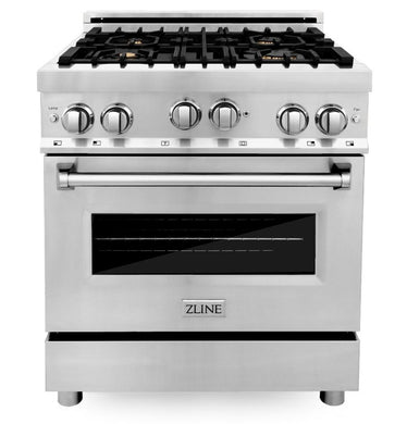 "ZLINE 30"" Professional Gas Burner/Gas Oven Stainless Steel Range with Brass Burners, RG-BR-30"