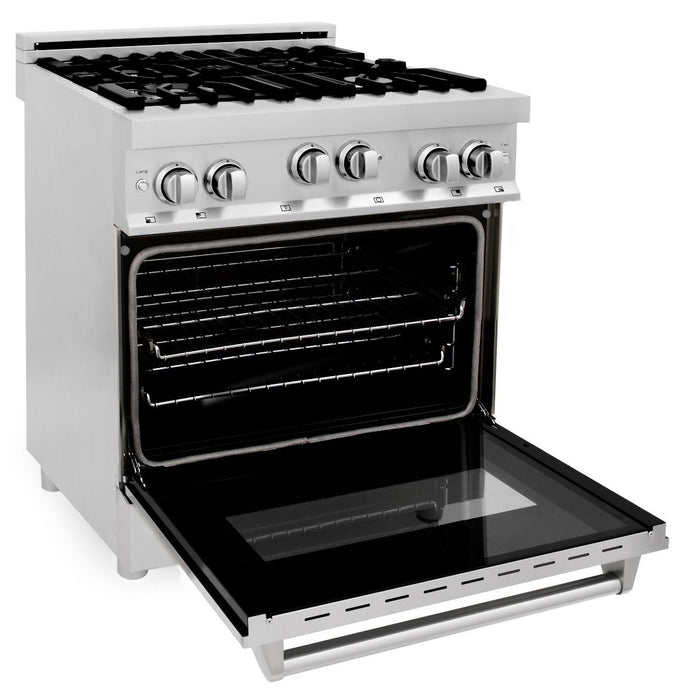 "ZLINE 30"" Professional Gas Burner/Gas Oven in Stainless Steel, RG30"