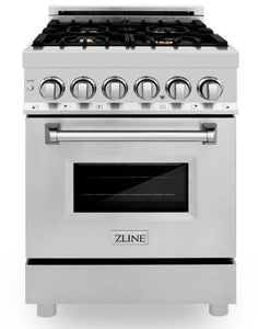 "ZLINE 24"" Professional Gas Burner/Electric Oven Stainless Steel Range with Brass Burners, RA-BR-24"