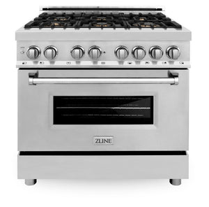 "ZLINE 36"" Professional Gas Burner/Electric Oven Stainless Steel Range with Brass Burners, RA-BR-36"
