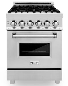 "ZLINE 24"" Professional Gas Burner/Electric Oven Stainless Steel Range, RA24"
