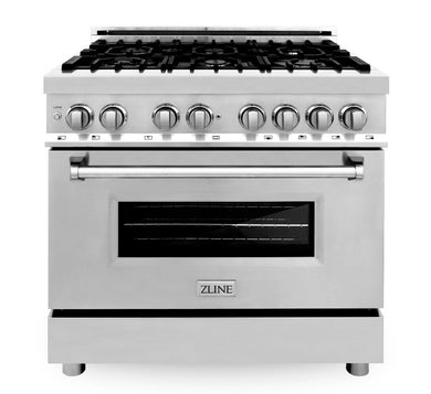 "ZLINE 36"" Professional Gas Burner/Electric Oven Stainless Steel Range, RA36"