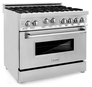"ZLINE 36"" Professional Gas Burner/Gas Oven Gas in Stainless Steel with Brass Burners, RG-BR-36 test"
