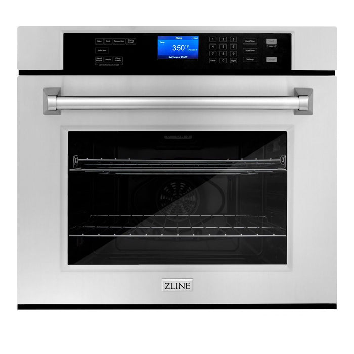 ZLINE 30 in. Professional Single Wall Oven in Stainless Steel with Self-Cleaning, AWS-30