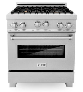 "ZLINE 30"" Professional Gas Burner/Gas Oven in DuraSnow® Stainless with Brass Burners, RGS-SN-BR-30"