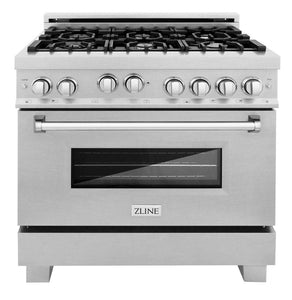 "ZLINE 36"" Professional Gas Burner/Gas Oven in DuraSnow® Stainless, RGS-SN-36"