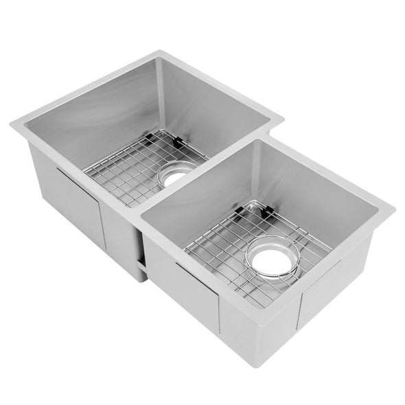 ZLINE Jackson 32 Inch Undermount Double Bowl Sink in Stainless Steel, SRDR-32